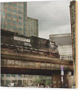 Train - Pittsburg Pa - The Industrial City Wood Print