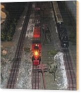 Train Set Wood Print
