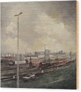Train station Wood Print