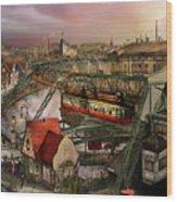 Train Station - Wuppertal Suspension Railway 1913 Wood Print