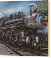 Train - Steam - 385 Fully Restored  Wood Print