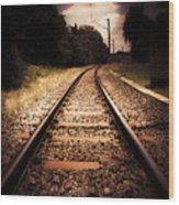 Train Tour Of Darkness Wood Print