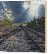 Train Track Junction In Charleston Sc Wood Print