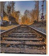 Train Tracks Wood Print