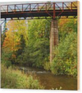 Train Trestle Wood Print