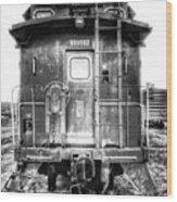 Train Waiting In Atchison Kansas Wood Print