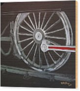 Train Wheels 2 Wood Print