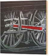 Train Wheels 4 Wood Print
