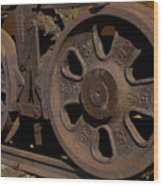 Train Wheels At Eckley Village Wood Print
