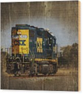 Train Yard 2 Wood Print