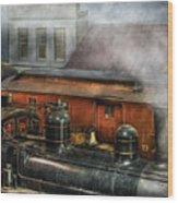 Train - Yard - The Train Yard II Wood Print