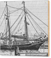 Training Ship Tabor Boy At Woods Hole Town Dock Wood Print