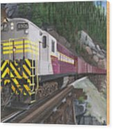 Trainmaster At Myra Wood Print