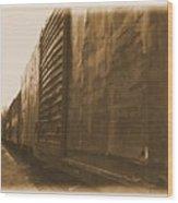 Trains 12 Albumen Border Wood Print
