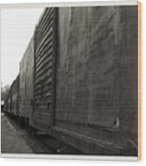 Trains 12 Platinum Border Wood Print
