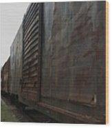 Trains 12 Autochrome Wood Print