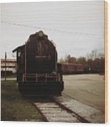 Trains 3 Retro Wood Print