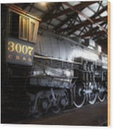 Trains 3007 C B Q Steam Engine Wood Print