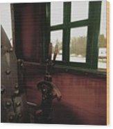 Trains 5 Retro Wood Print