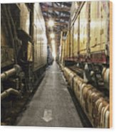 Trains Ancient Iron In The Barn Wood Print