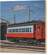 Trains Chicago Aurora Elgin Trolley Car 409 Wood Print