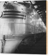 Trains Emd E5 Diesel Locomotive Bw Wood Print