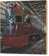Trains North Shore Line Electroliner Sc Wood Print
