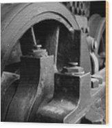 Trainwheels Wood Print