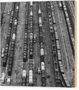 Trainyard Wood Print