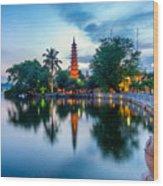 Tran Quoc Pagoda Wood Print