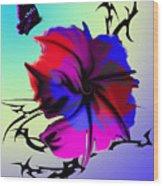 Trance Flower Wood Print