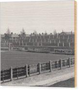 Tranmere Rovers - Prenton Park - Bebington Kop End 1 - Bw - 1967 Wood Print