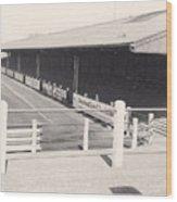Tranmere Rovers - Prenton Park - Borough Road Stand 1 - Bw - 1967 Wood Print