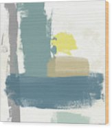 Tranquil Abstract 3- Art By Linda Woods Wood Print