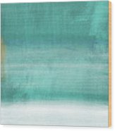 Tranquil Horizon- Art By Linda Woods Wood Print