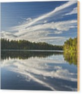 Tranquil Lake In Finland Wood Print