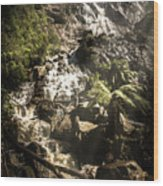 Tranquil Mountain Canyon Wood Print