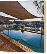Tranquil Pool Wood Print