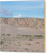 Tranquil Qinghai Desert Mountain In China Wood Print
