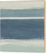 Tranquil Stripes- Art By Linda Woods Wood Print
