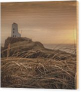 Tranquil Sunset At Llanddwyn Island - Anglesey, North Wales Wood Print