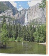 Tranquil Waterfalls Wood Print