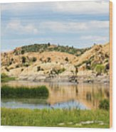 Tranquil Willow Lake Wood Print