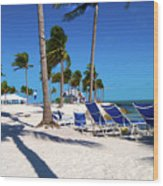 Tranquility Bay Beach Paradise Wood Print
