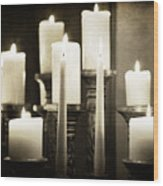 Tranquility Of Candlelight Wood Print