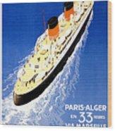 Transatlantic Ocean Liner Wood Print