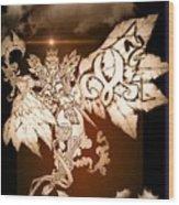 Transcending Angel Wood Print