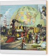 Transcontinental Railroad Wood Print