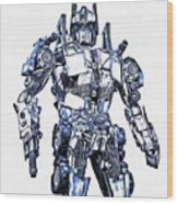 Transformers Optimus Prime Or Orion Pax Graphic  Wood Print