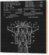 Transformers Patent - Black And White Wood Print